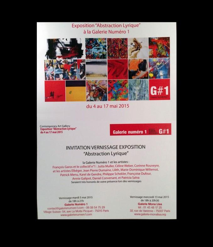 EXPO G#1 Exposition Collective, Galerie Numéro 1 Paris 15