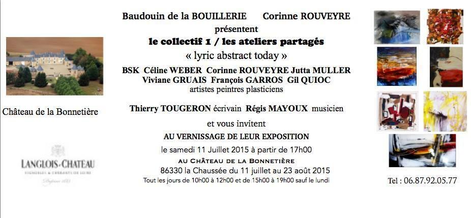 Invitation Expo Chateau de La Bonnetière