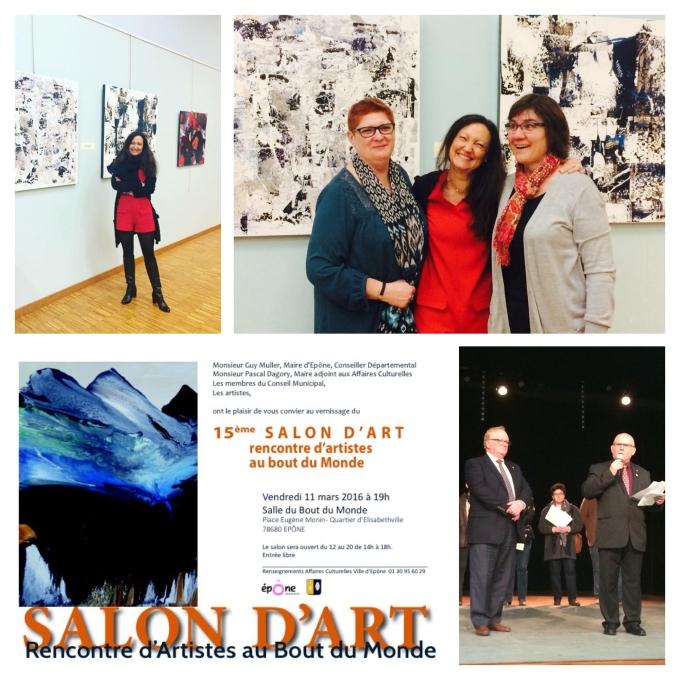 Exposition Collective, 15 ème salon d'art, rencontre d'Artistes au Bout du Monde, Epône (France)