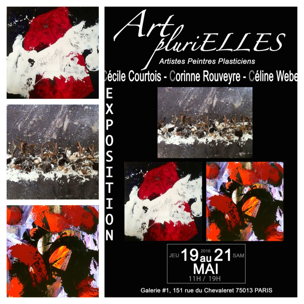 Exposition Collective, Art Plurielles, G#1 Paris 13, France, Mai 2016