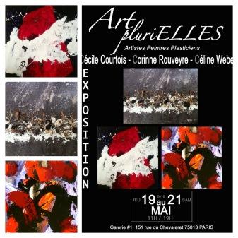 Exposition Collective, Art Plurielles, G#1 Paris 13, France, Mai 2016