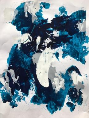 Acrylique Sur Papier 2016 65x50 cm-i