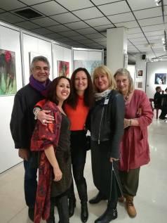 Bernard Dumand, Céline Weber, Jutta Muller, Josée Van Lierop, Fatima Bousaid (Cholet 12/2017)