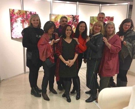 Corinne Rouveyre, Bernard Dumand, Etienne Boiteux, Françoise Debon, Fatima Bousaid, Céline Weber, Jutta Muller, Josée Van Lierop, Elis Taves O'Sullivan (Cholet 12/2017)